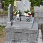 館山市 インド産の高級石材を使用したお洒落な洋型墓石が完成しました。